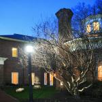 Hyde Hall at night